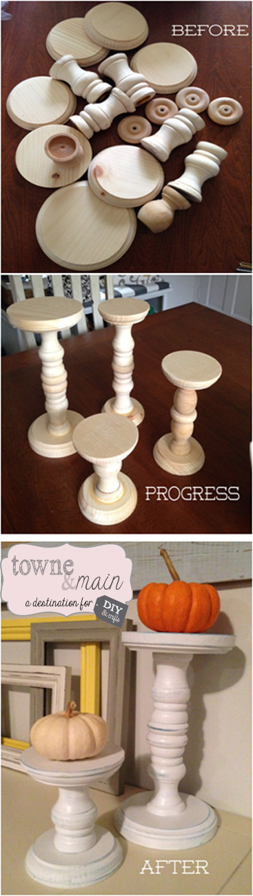 DIY Candle sticks